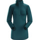 Arc'teryx W's Rho AR Zip Neck Oceanus